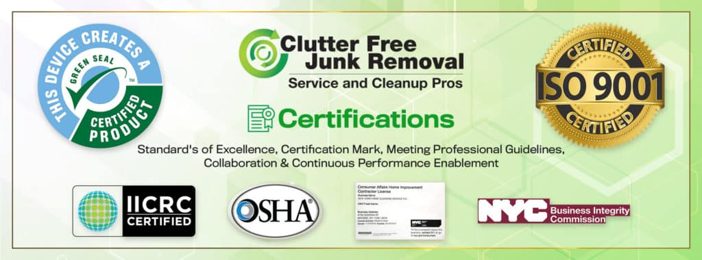 Cleanup and Cleanout Service Awards and Certifications