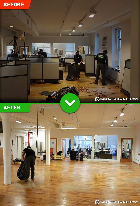 commercial office suite cleanout