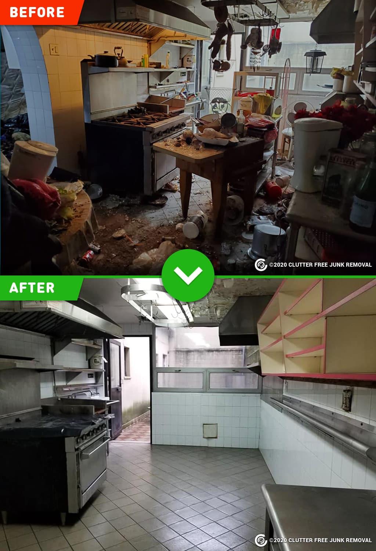 commercial restaurant kitchen cleanout