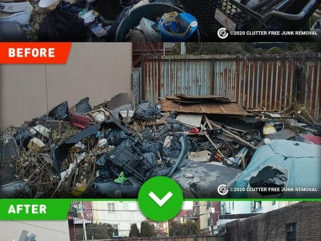 property cleanup and junk removal in New York, NY.