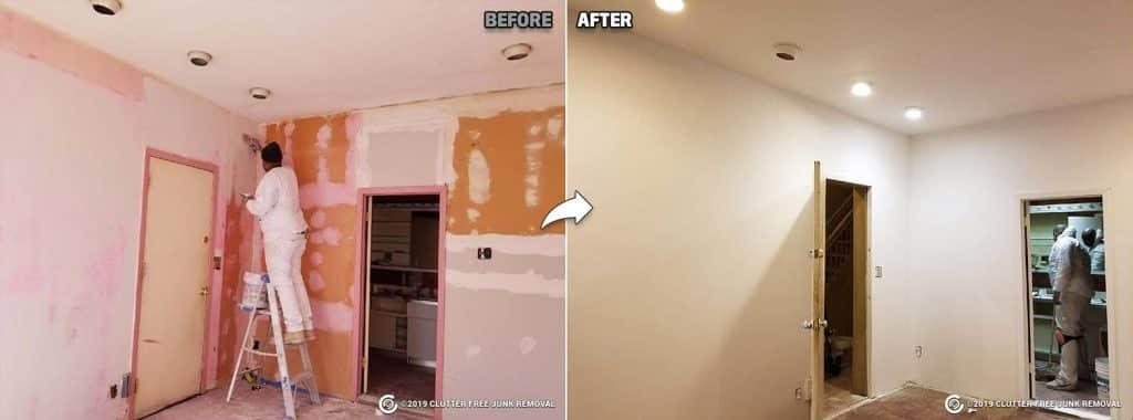 wall repairs and repainting