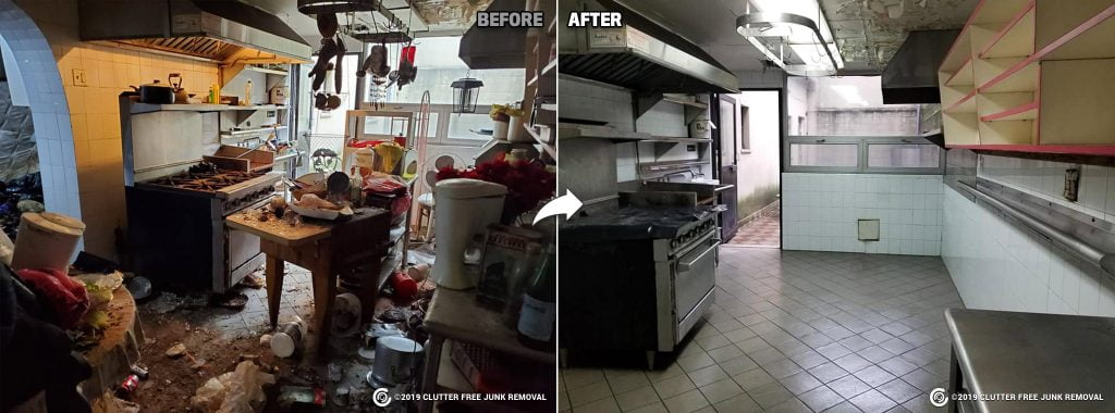 Commercial restaurant cleanup