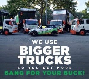 large junk removal trucks