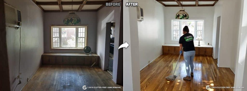 wood floor repair and refinish