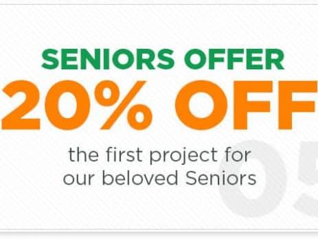 20% OFF for Seniors