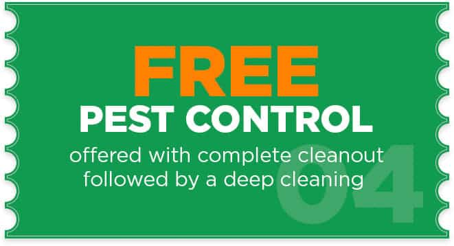 Pest Control application with complete cleanup, cleanout, deep cleaning and heavy duty cleaning service