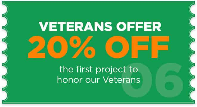 20 % OFF for Veterans onFirst Project