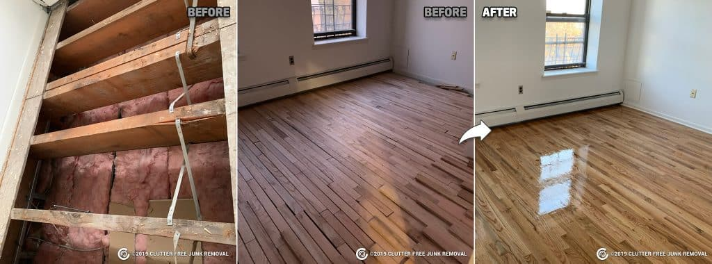 wood floor repair and refinish in New York, NY.