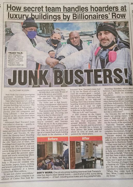 New York Post Article About Hoarding
